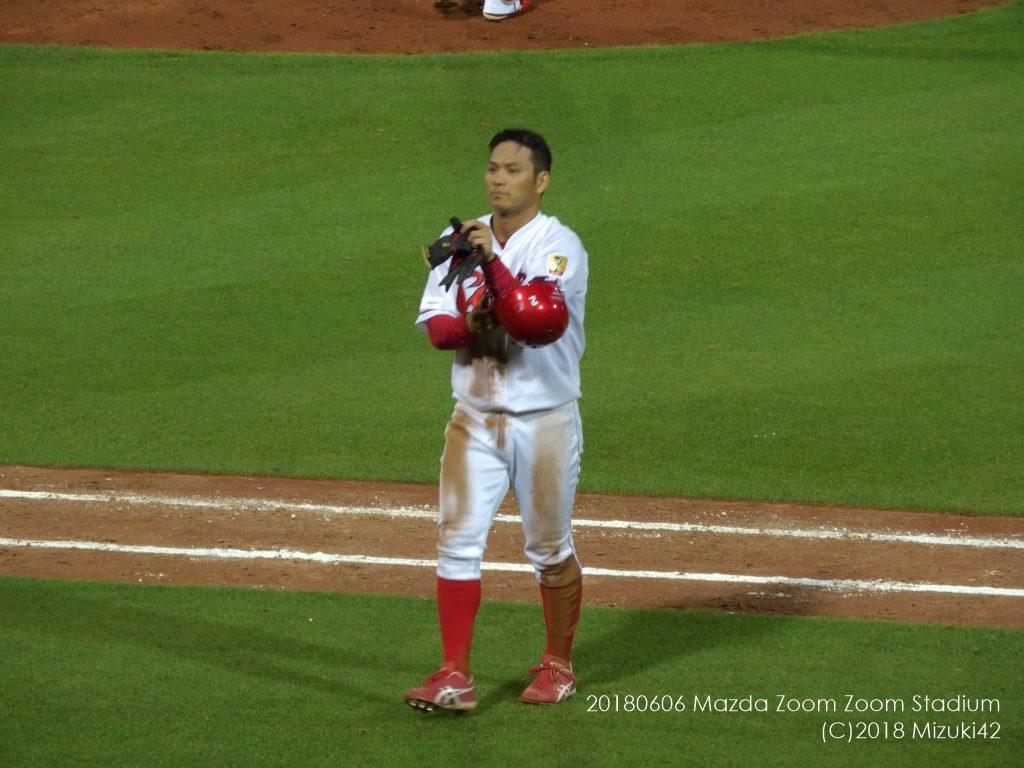 足の速い田中広輔が塁に出ると迫力満点!