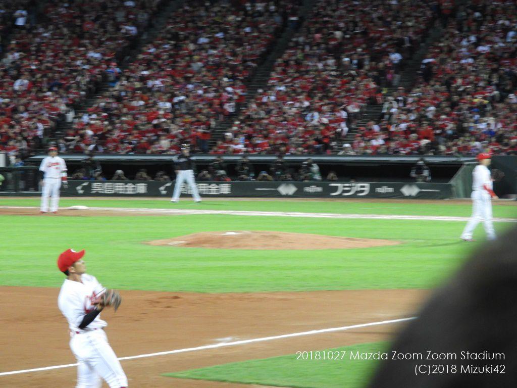 3塁側・内野指定席A(北18・前列)からの見え方