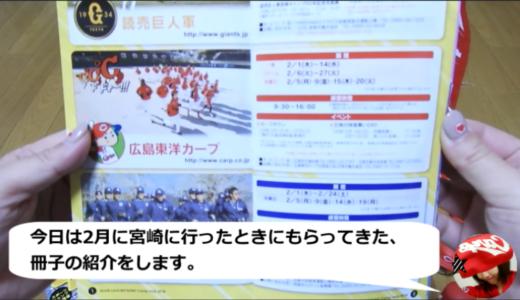 宮崎キャンプでもらってきた冊子でプロ野球2018シーズンの予習中!