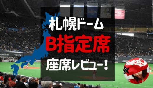 札幌ドームで野球観戦!内野B指定席(1塁側・前方)からの見え方レビュー